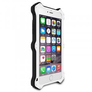 Антиударный пылевлагозащищенный гибридный премиум чехол силикон/металл/закаленное стекло со съёмной крышкой с окном вызова и свайпом для Iphone 6 Plus/6s Plus