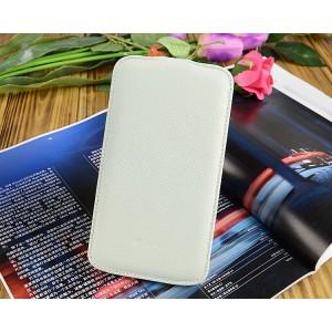 Кожаный чехол книжка для Samsung Galaxy Mega 6.3 GT-I9200 Белый