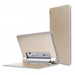 Чехол подставка на поликарбонатной основе текстурный Glossy Shield для планшета Lenovo Yoga Tablet 8 Бежевый