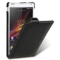 Чехол кожаный книжка вертикальная для Sony Xperia ZL