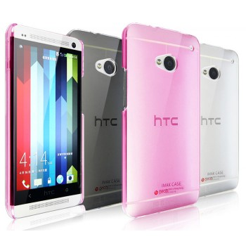 Пластиковый полупрозрачный чехол для HTC One (M7) Dual SIM
