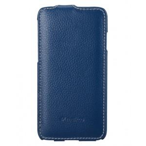 Кожаный чехол вертикальная книжка для Iphone 6 Синий