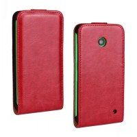 Чехол вертикальная книжка на пластиковой основе для Nokia Lumia 630/635 Красный