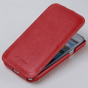 Кожаный чехол книжка для Samsung Galaxy Core Красный
