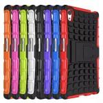 Антиударный силиконовый чехол экстрим защита с подставкой для Sony Xperia Z5