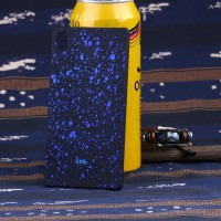 Пластиковый матовый непрозрачный чехол с голографическим принтом Звезды для Sony Xperia Z5 Синий