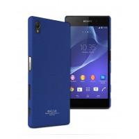 Пластиковый матовый чехол с повышенной шероховатостью для Sony Xperia Z5 Синий