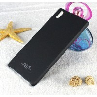 Пластиковый матовый чехол с повышенной шероховатостью для Sony Xperia Z5 Черный