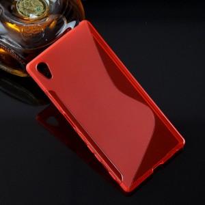 Силиконовый S чехол для Sony Xperia Z5 Красный