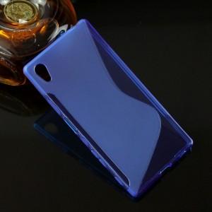 Силиконовый S чехол для Sony Xperia Z5 Синий