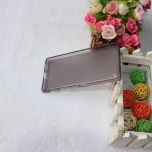 Силиконовый матовый полупрозрачный чехол для Sony Xperia Z5 Серый