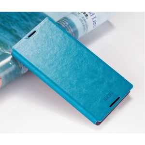 Чехол флип подставка водоотталкивающий для Sony Xperia Z5 Синий