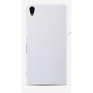 Пластиковый матовый нескользящий премиум чехол для Sony Xperia Z5 Белый