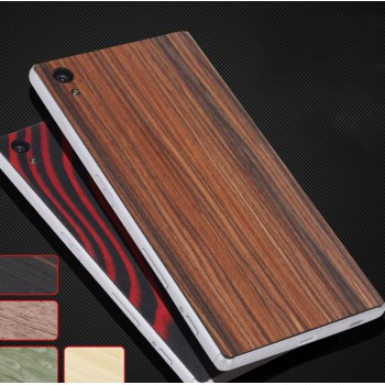 Клеевая натуральная деревянная накладка с текстурами для Sony Xperia Z5