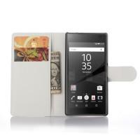 Чехол портмоне подставка с защелкой для Sony Xperia Z5 Compact Белый