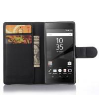 Чехол портмоне подставка с защелкой для Sony Xperia Z5 Compact Черный