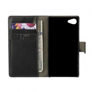 Глянцевый чехол портмоне подставка с защелкой для Sony Xperia Z5 Compact