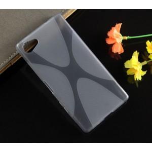 Силиконовый X чехол для Sony Xperia Z5 Compact Серый
