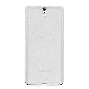Кожаный чехол накладка (нат. кожа) серия Back Cover для Sony Xperia C5 Ultra Dual