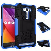 Антиударный силиконовый чехол экстрим защита с подставкой для ASUS Zenfone 2 Laser 5.5 ZE550KL Синий
