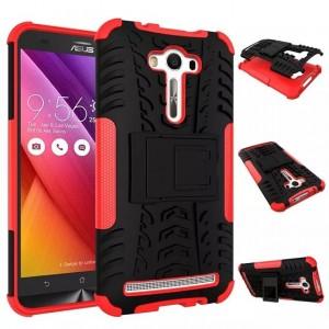 Антиударный силиконовый чехол экстрим защита с подставкой для ASUS Zenfone 2 Laser 5.5 ZE550KL Красный