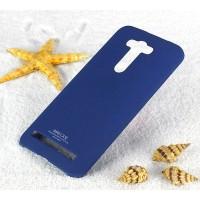 Пластиковый матовый чехол с повышенной шероховатостью для ASUS Zenfone 2 Laser 5.5 ZE550KL Синий