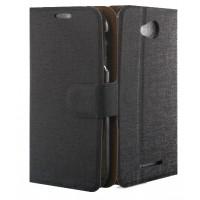Чехол флип-подставка с отделениями для карт для Lenovo A706 Черный