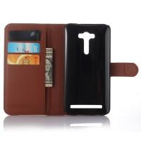 Чехол портмоне подставка с защелкой для ASUS Zenfone 2 Laser 5.5 ZE550KL Коричневый