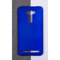 Пластиковый матовый непрозрачный чехол для ASUS Zenfone 2 Laser 5.5 ZE550KL Синий