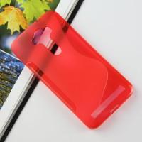 Силиконовый S чехол для ASUS Zenfone 2 Laser 5.5 ZE550KL Красный