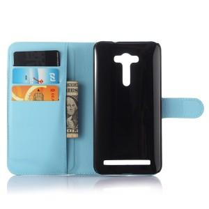 Чехол портмоне подставка на силиконовой основе с магнитной защелкой для ASUS Zenfone 2 Laser 5 ZE500KL Голубой