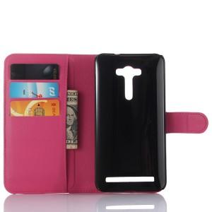 Чехол портмоне подставка на силиконовой основе с магнитной защелкой для ASUS Zenfone 2 Laser 5 ZE500KL Пурпурный