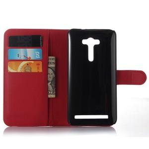 Чехол портмоне подставка на силиконовой основе с магнитной защелкой для ASUS Zenfone 2 Laser 5 ZE500KL Красный