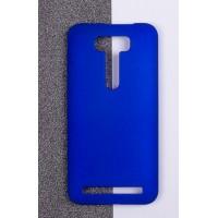 Пластиковый матовый непрозрачный чехол для ASUS Zenfone 2 Laser 5 ZE500KL Синий