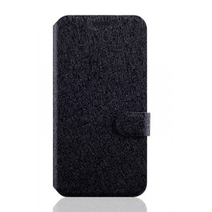 Текстурный чехол флип подставка с застежкой и отделением для карт для ASUS Zenfone 2 Laser 5 ZE500KL Черный
