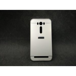 Двухкомпонентный чехол с металлическим бампером и поликарбонатной накладкой для ASUS Zenfone 2 Laser 5 ZE500KL Белый