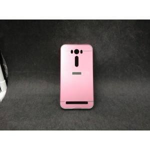 Двухкомпонентный чехол с металлическим бампером и поликарбонатной накладкой для ASUS Zenfone 2 Laser 5 ZE500KL Розовый