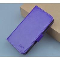 Чехол портмоне подставка на пластиковой основе с защелкой для Lenovo A328 Фиолетовый