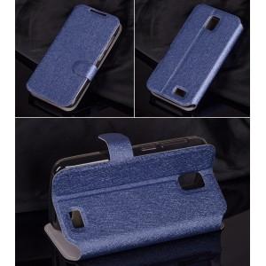 Текстурный чехол флип подставка с магнитной застежкой и отделением для карт для Lenovo A328