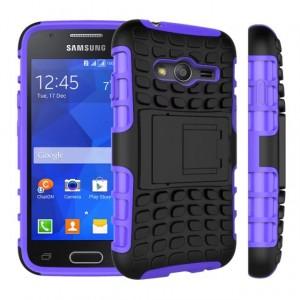 Антиударный силиконовый чехол экстрим защита с подставкой для Samsung Galaxy Ace 4