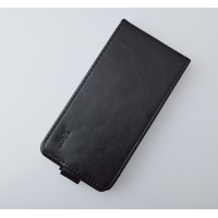 Чехол вертикальная книжка на пластиковой основе с магнитной застежкой для Samsung Galaxy Ace 4 Черный