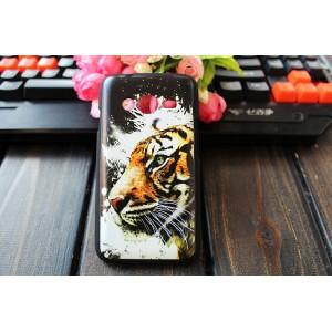 Пластиковый матовый дизайнерский чехол с эксклюзивной серией принтов для Samsung Galaxy Ace 4