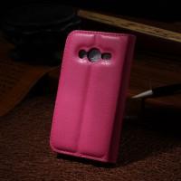 Чехол портмоне подставка с защелкой для Samsung Galaxy Ace 4 Пурпурный