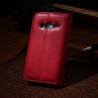 Чехол портмоне подставка с защелкой для Samsung Galaxy Ace 4 Красный
