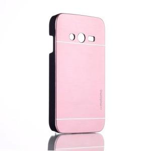 Пластиковый матовый чехол с металлическим покрытием для Samsung Galaxy Ace 4