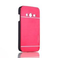 Пластиковый матовый чехол с металлическим покрытием для Samsung Galaxy Ace 4 Красный