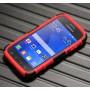 Силиконовый премиум чехол с поликарбонатной крышкой и встроенной подставкой для Samsung Galaxy Ace 4