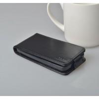Чехол вертикальная книжка на пластиковой основе с магнитной застежкой для ASUS Zenfone 4 Черный