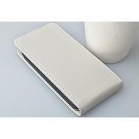 Чехол вертикальная книжка на пластиковой основе с магнитной застежкой для ASUS Zenfone 4 Белый