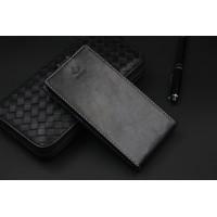 Кожаный чехол вертикальная книжка на пластиковой основе с магнитной застежкой и отделением для карты для ASUS Zenfone 4 Черный